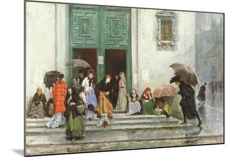 Coming Out of Church, before 1875-Raimundo de Madrazo Y Garetta-Mounted Giclee Print