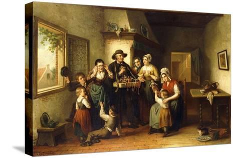 The Peddler's Wares-J.J.M. Damschroeder-Stretched Canvas Print