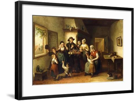 The Peddler's Wares-J.J.M. Damschroeder-Framed Art Print