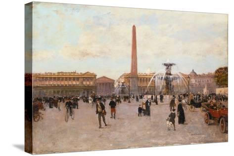 La Place De La Concorde-Luigi Loir-Stretched Canvas Print