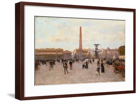 La Place De La Concorde-Luigi Loir-Framed Art Print