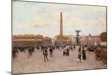 La Place De La Concorde-Luigi Loir-Mounted Giclee Print