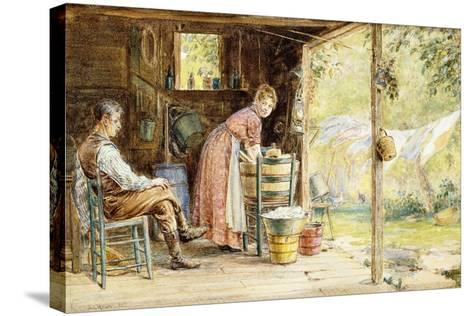 Wash Day, 1890-Edward Lamson Henry-Stretched Canvas Print
