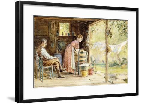 Wash Day, 1890-Edward Lamson Henry-Framed Art Print