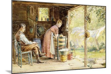 Wash Day, 1890-Edward Lamson Henry-Mounted Giclee Print