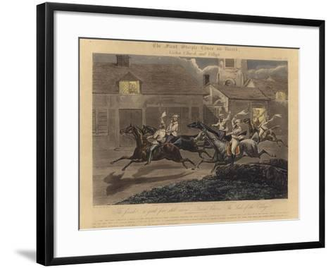 The First Steeplechase on Record-Henry Thomas Alken-Framed Art Print