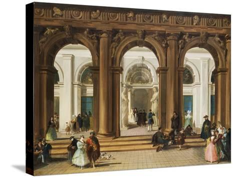 The Entrance to the Biblioteca Marciana, Venice-Giuseppe Bernardino Bison-Stretched Canvas Print