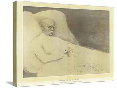 Bismarck on His Death Bed--Stretched Canvas Print