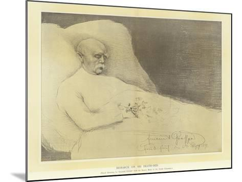 Bismarck on His Death Bed--Mounted Giclee Print