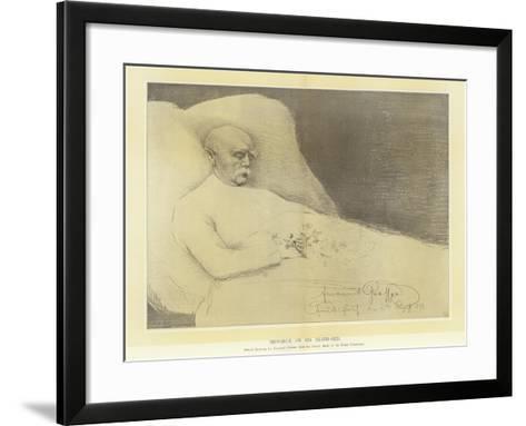 Bismarck on His Death Bed--Framed Art Print