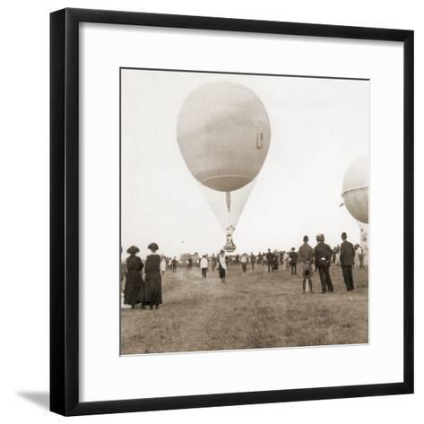 Spectators at a Balloon Race in Texas, Usa 1932--Framed Art Print
