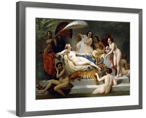 Odalisque, 1858-Henri Pierre Picou-Framed Art Print