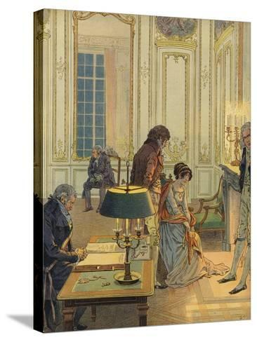 Napoleon Bonaparte Saying Farewell to His Wife--Stretched Canvas Print