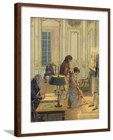 Napoleon Bonaparte Saying Farewell to His Wife--Framed Art Print