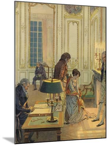 Napoleon Bonaparte Saying Farewell to His Wife--Mounted Giclee Print