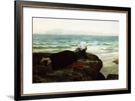 Looking Out to Sea-Jules Breton-Framed Art Print