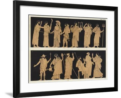 Heracles and Athena--Framed Art Print