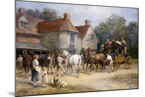 Changing Horses-Heywood Hardy-Mounted Giclee Print