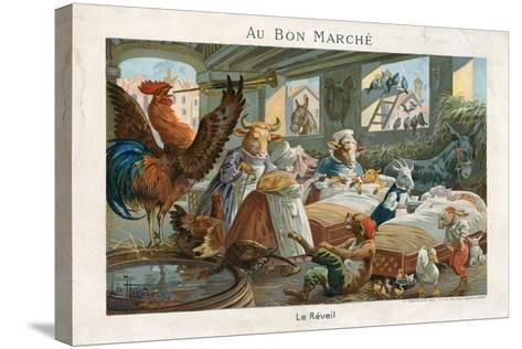 Au Bon Marche Trade Card--Stretched Canvas Print