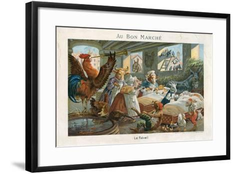 Au Bon Marche Trade Card--Framed Art Print