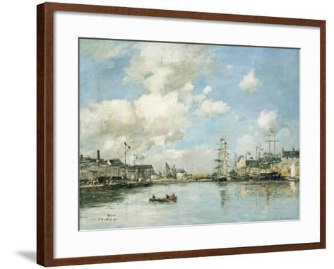 Fecamp, the Basin, 1892-Eug?ne Boudin-Framed Art Print