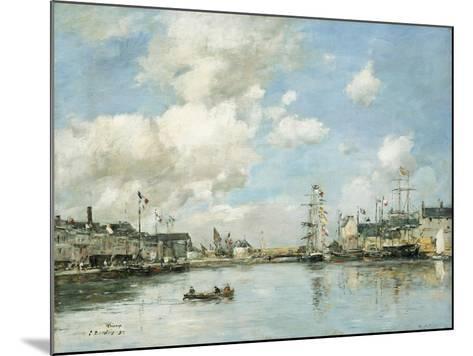 Fecamp, the Basin, 1892-Eug?ne Boudin-Mounted Giclee Print