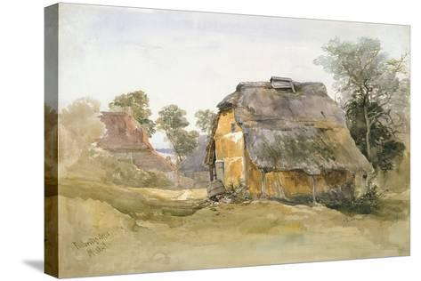 An Old Barn at Tunbridge Wells-John Middleton-Stretched Canvas Print