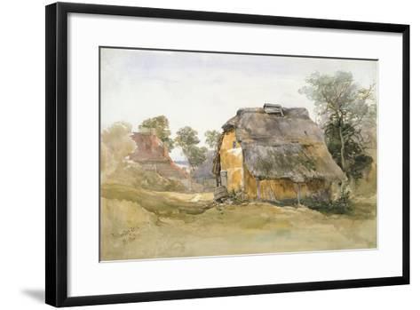 An Old Barn at Tunbridge Wells-John Middleton-Framed Art Print