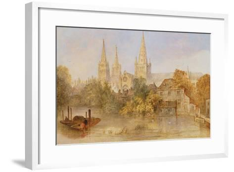 Lichfield Cathedral from Stowe Pool, C.1850--Framed Art Print