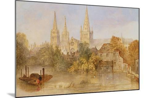 Lichfield Cathedral from Stowe Pool, C.1850--Mounted Giclee Print