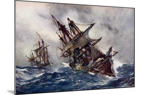 """The """"Fame"""" with Foul-Weather Jack-Charles Edward Dixon-Mounted Giclee Print"""