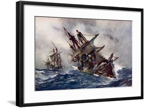 "The ""Fame"" with Foul-Weather Jack-Charles Edward Dixon-Framed Art Print"