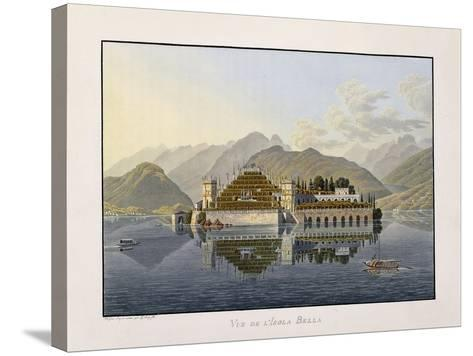 View of Isola Bella, 1811-1819-Mathias Gabriel Lory-Stretched Canvas Print