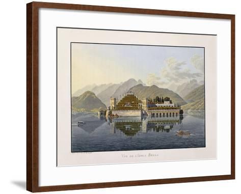 View of Isola Bella, 1811-1819-Mathias Gabriel Lory-Framed Art Print