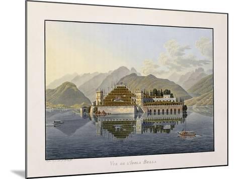View of Isola Bella, 1811-1819-Mathias Gabriel Lory-Mounted Giclee Print
