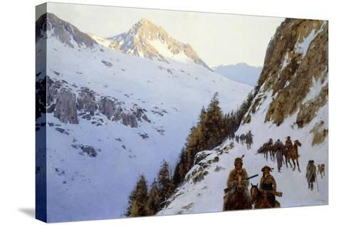 The Trail over the Pass, 1910-Henry Francois Farny-Stretched Canvas Print