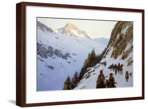 The Trail over the Pass, 1910-Henry Francois Farny-Framed Art Print