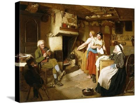 A Family in an Interior-John Faed-Stretched Canvas Print
