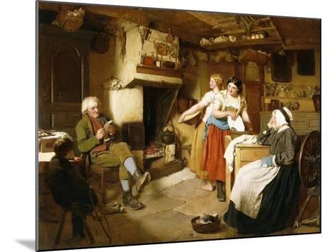 A Family in an Interior-John Faed-Mounted Giclee Print