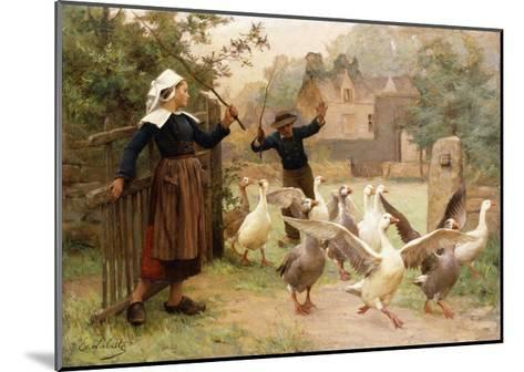 Guiding the Gaggle-Eugene Leon Labitte-Mounted Giclee Print
