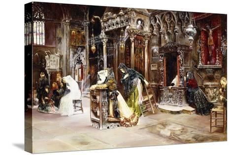 The Confession, 1893-Jose Gallegos Arnosa-Stretched Canvas Print