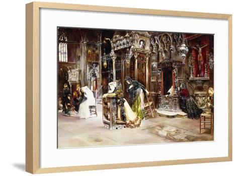 The Confession, 1893-Jose Gallegos Arnosa-Framed Art Print