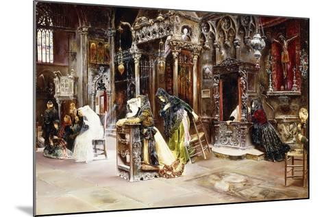 The Confession, 1893-Jose Gallegos Arnosa-Mounted Giclee Print