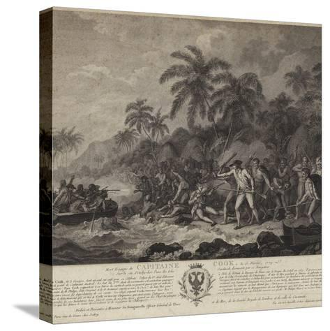 The Tragic Death of Captain Cook-John Webber-Stretched Canvas Print