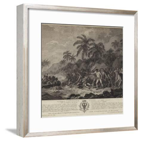 The Tragic Death of Captain Cook-John Webber-Framed Art Print