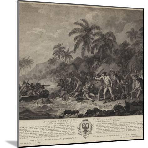 The Tragic Death of Captain Cook-John Webber-Mounted Giclee Print