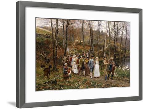 A Wedding Procession, 1879-Marie Francois Firmin-Girard-Framed Art Print