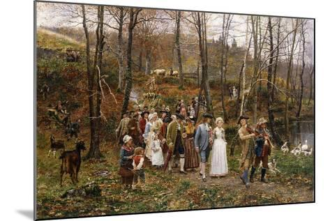 A Wedding Procession, 1879-Marie Francois Firmin-Girard-Mounted Giclee Print