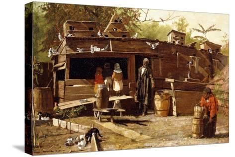 Uncle Ned at Home, 1875-Winslow Homer-Stretched Canvas Print