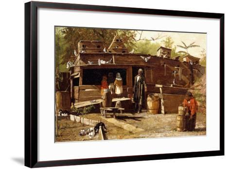 Uncle Ned at Home, 1875-Winslow Homer-Framed Art Print